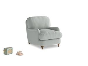 Jonesy Armchair in Eggshell grey clever cotton