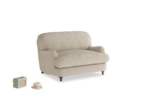 Jonesy Love seat in Flagstone clever woolly fabric