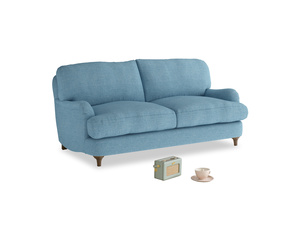 Small Jonesy Sofa in Moroccan blue clever woolly fabric