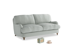 Small Jonesy Sofa in Eggshell grey clever cotton