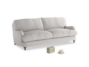 Medium Jonesy Sofa in Lunar Grey washed cotton linen