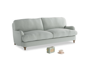 Medium Jonesy Sofa in Eggshell grey clever cotton
