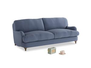 Medium Jonesy Sofa in Breton blue clever cotton