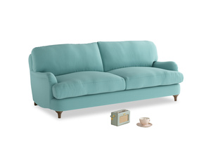 Medium Jonesy Sofa in Kingfisher clever cotton