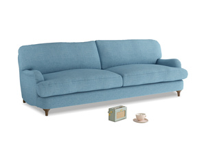 Large Jonesy Sofa in Moroccan blue clever woolly fabric