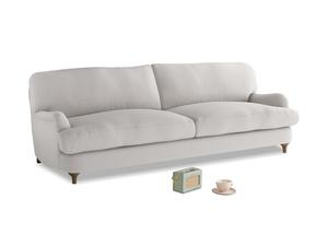 Large Jonesy Sofa in Lunar Grey washed cotton linen