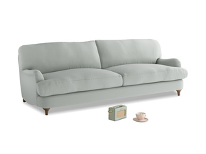 Large Jonesy Sofa in Eggshell grey clever cotton