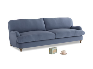 Large Jonesy Sofa in Breton blue clever cotton