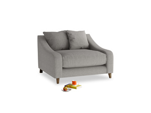 Oscar Love seat in Marl grey clever woolly fabric