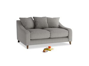 Small Oscar Sofa in Marl grey clever woolly fabric