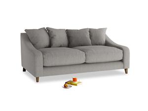 Medium Oscar Sofa in Marl grey clever woolly fabric
