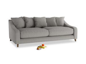 Large Oscar Sofa in Marl grey clever woolly fabric