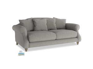 Medium Sloucher Sofa in Marl grey clever woolly fabric