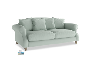 Medium Sloucher Sofa in Sea surf clever cotton