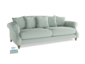 Large Sloucher Sofa in Sea surf clever cotton