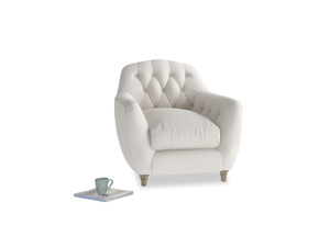Butterbump Armchair in Chalk clever cotton