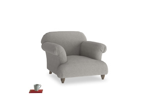 Soufflé Armchair in Marl grey clever woolly fabric