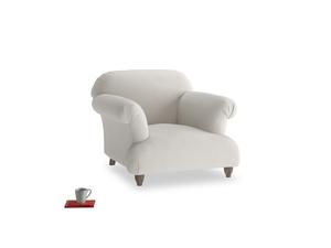 Soufflé Armchair in Moondust grey clever cotton