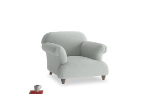 Soufflé Armchair in Eggshell grey clever cotton