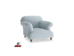 Soufflé Armchair in Scandi blue clever cotton
