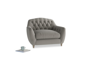 Love Seat Butterbump Love Seat in Monsoon grey clever cotton