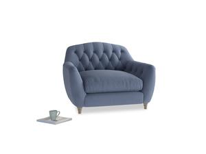 Love Seat Butterbump Love Seat in Breton blue clever cotton