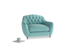 Love Seat Butterbump Love Seat in Kingfisher clever cotton