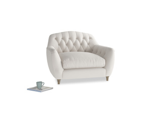 Love Seat Butterbump Love Seat in Chalk clever cotton