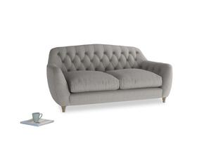Medium Butterbump Sofa in Marl grey clever woolly fabric