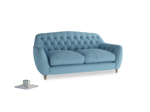 Medium Butterbump Sofa in Moroccan blue clever woolly fabric
