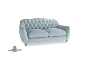 Medium Butterbump Sofa in Soothing blue washed cotton linen