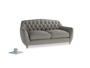 Medium Butterbump Sofa in Monsoon grey clever cotton