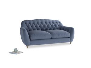 Medium Butterbump Sofa in Breton blue clever cotton