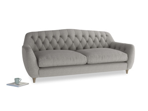 Large Butterbump Sofa in Marl grey clever woolly fabric