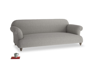 Large Soufflé Sofa in Marl grey clever woolly fabric