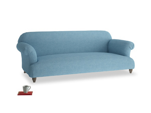 Large Soufflé Sofa in Moroccan blue clever woolly fabric