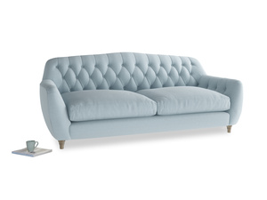Large Butterbump Sofa in Soothing blue washed cotton linen