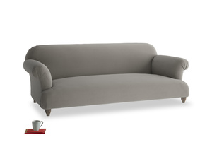 Large Soufflé Sofa in Monsoon grey clever cotton