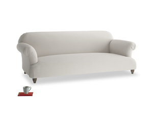 Large Soufflé Sofa in Moondust grey clever cotton
