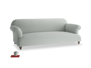 Large Soufflé Sofa in Eggshell grey clever cotton