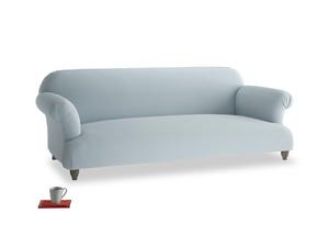 Large Soufflé Sofa in Scandi blue clever cotton