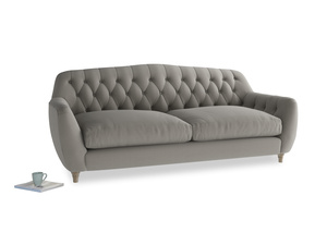 Large Butterbump Sofa in Monsoon grey clever cotton