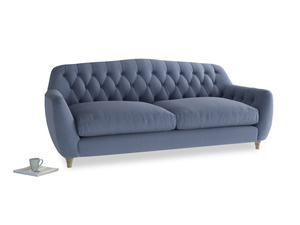 Large Butterbump Sofa in Breton blue clever cotton