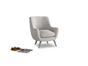 Berlin Armchair in Lunar Grey washed cotton linen