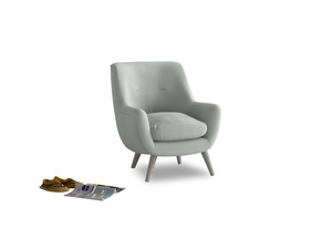 Berlin Armchair in Eggshell grey clever cotton