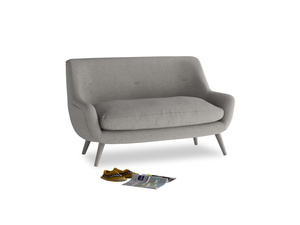 Small Berlin Sofa in Marl grey clever woolly fabric