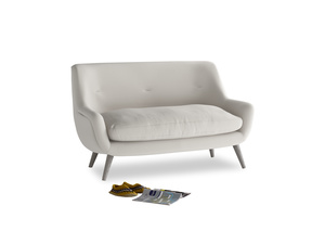 Small Berlin Sofa in Moondust grey clever cotton