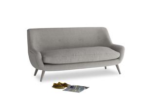 Medium Berlin Sofa in Marl grey clever woolly fabric