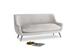 Medium Berlin Sofa in Lunar Grey washed cotton linen