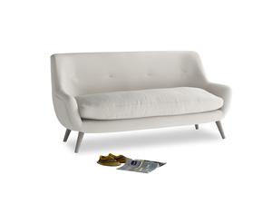 Medium Berlin Sofa in Moondust grey clever cotton